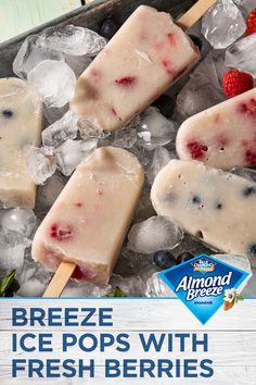 Frozen Desserts, Healthy Desserts, Delicious Desserts, Just Desserts, Yummy Food, Frozen Treats, Sweet Recipes, Vegan Recipes, Snack Recipes