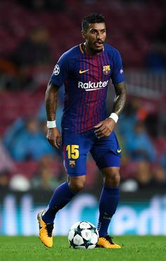 Paulinho of FC Barcelona runs with the ball during the UEFA Champions League group D match between FC Barcelona and Olympiakos Piraeus at Camp Nou on October 18, 2017 in Barcelona.