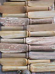 wooden butter knives