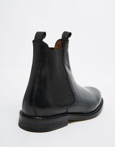 Hudson London Sophie Black Leather Chelsea Ankle Boots | Asos