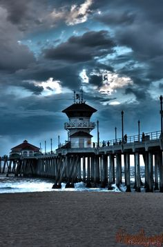 Huntington Beach Pier Southern California Beaches Surf Pacific Highway