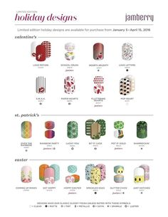 Who doesn't love pretty nails, with all the latest holiday wraps in stock jump on over to my webpage and order yours now! No fuss, no dry time and no chipping :) Whats not to love