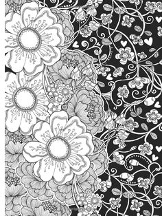Amazon.com: Creative Haven Midnight Garden Coloring Book: Heart & Flower Designs on a Dramatic Black Background (Creative Haven Coloring Books) (9780486803180): Lindsey Boylan: Books