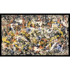 This lush painting by Jackson Pollock exhibits such life, energy and emotion, a choreography of color and movement that is open to a unique interpretation by anyone viewing it. Artist: Jackson Pollock