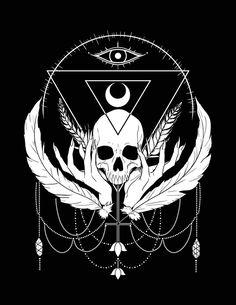 VIRGO Art Print - or - Gothic Strega Skull Witch - original Digitl art - Bianca Loran Art Sagittarius Art, Virgo Constellation Tattoo, Goth Wallpaper, Horoscope Tattoos, Chicano Art, Tattoo Designs And Meanings, Zodiac Art, Gothic Art, Easy Drawings