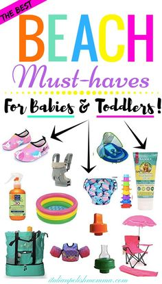 Beach must haves for baby! Be sure to pack these beach essentials for your baby so mom can sit down and enjoy the beach too! Beach essentials for babies and toddlers! Toddler Beach, Toddler Travel, Travel With Kids, Baby Travel, Toddler Tent, Toddler Camping, Camping With Toddlers, Toddler Stuff, Travel Bags