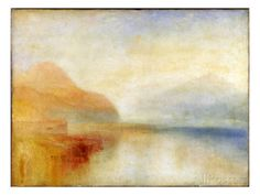 Box Canvas Print (other products available) - Inverary Pier, Loch Fyne: Morning Inverary Pier, Loch Shira Monte Rosa Monte Rosa Mortlake, Joseph Mallord William Turner, British - Image supplied by Liszt Collection - inch Box Canvas Print made in the UK Joseph Mallord William Turner, Covent Garden, Turner Watercolors, Loch Fyne, Turner Painting, Painting Art, Joseph Williams, Google Art Project, Fine Art Prints
