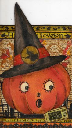Vintage Halloween Jack o'Lantern Pumpkin