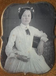 Daguerreotype Girl with Flowers in Her Hair | eBay