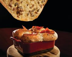 Start your meal off right with our Crispy Cheese Lavosh or Bacon & Onion Bread at Allium Chicago