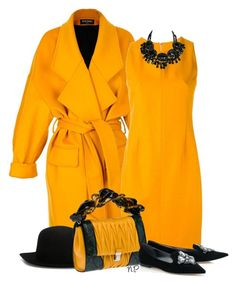 Orange & Black by nuria-pellisa-salvado on Polyvore featuring moda, Ilja, Balmain, Miu Miu, ISABEL BENENATO, polyvorecommunity, polyvoreeditorial, StreetChic and fallfashion