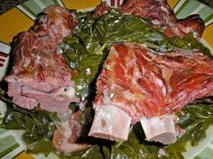 Chef JD's Cuisine & Travel Website Turnstile : Collard Greens and Smoked Neck Bones . Southern Collard Greens, Collard Greens Recipe, Pork Recipes, Cooking Recipes, Cajun Recipes, Southern Recipes, Southern Food, Recipes, Kitchens