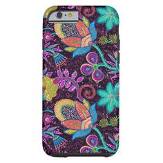 Colorful Glass Beads Look Retro Floral Design Tough iPhone 6 Case