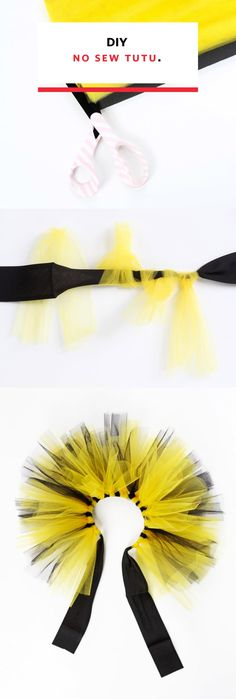 Tutu skirts are a great stand-in when you don't have a costume planned for a party or you need something fun to wear to a race. This fabulous, totally customizable tutu-orial is easy, inexpensive, and takes hardly any time at all, so grab your measurements, your toddler's measurements, or your dog's and have a blast with this goofy DIY costume idea!