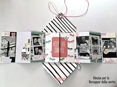 Scrapper della Notte: Un mini in una busta Mini Album Scrapbook, Scrapbook Bebe, Diy Mini Album, Mini Albums Scrap, Mini Album Tutorial, Book Making, Card Making, Album Book, Bookbinding