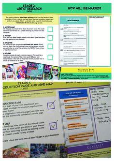 GCSE ART Assessment Sheets
