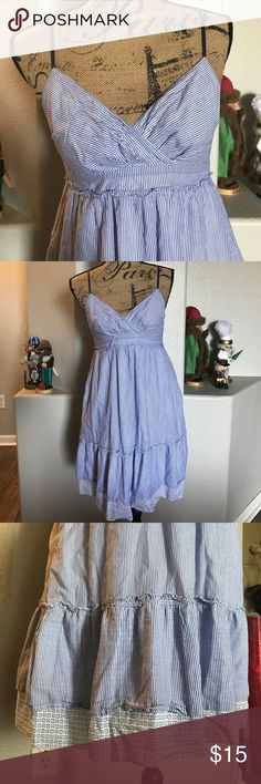 American eagle dress Blue and white striped American eagle dress in great condition. And best of all IT HAS POCKETS!! American Eagle Outfitters Dresses