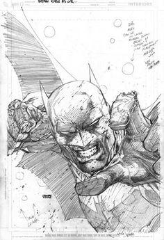 Batman from Jim Lee my favorite artist. Comic Book Pages, Comic Book Artists, Comic Book Characters, Comic Artist, Comic Books Art, Batman Drawing, Batman Art, Dc Comics Art, Batman Comics