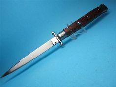 "Frank Beltrame 11"" Snakewood Swedge Swinguard Switchblade Knife"