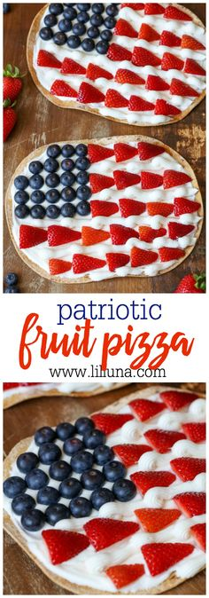 Patriotic Fruit Pizz