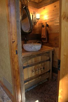 Our new rustic western bathroom sink & faucet. | New Home ...