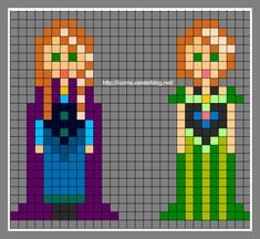 Anna Frozen Perler Bead Pattern
