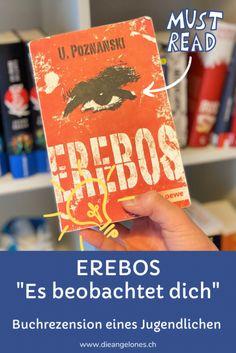 """Mit """"Erebos"""" schafft Ursula Poznanski eine Welt, die von den Schattenseiten des Internets beeinflusst wird. Der Titel des Romans, der sowohl für Jugendliche und Erwachsene geeignet ist, soll an Erebos, den Gott der Finsternis in der griechischen Mythologie, erinnern. Er hat zahlreiche Auszeichnungen erhalten, wurde rund 850.000 Mal verkauft und in 30 Sprachen übersetzt. Unser Grosser hat das Buch gelesen und eine Rezension geschrieben. #Erebos #DieAngelones Gymnasium, Cover, Books, Learn To Read, Reading Books, Media Literacy, Books For Kids, Good Books, School Kids"""