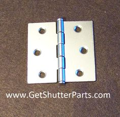 "Nickel Satin / Brushed Nickel  Plantation Shutter Hinge 2 1/2"" X 2 1/2"""
