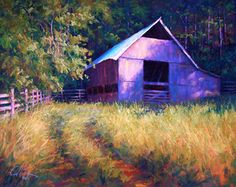 Boxley Barn by Charles Peer, beautiful use of colour.