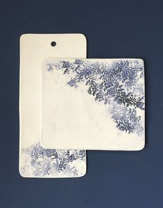 Here are two of our most popular serving pieces featuring our elegant floral pattern. The Charcuterie and Cheese Board are perfect for parties or a quiet dinner at home. They're a wonderful canvas for