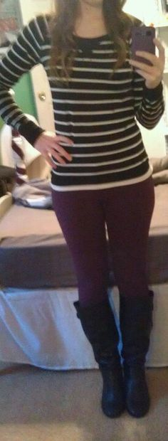 Outfit of the day new purple pants!!