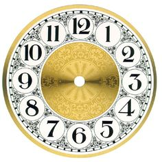 antique clock face template printable – Homes Tips