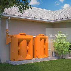 Cisterna Vertical Modular 1000 litros com filtro - Kit Reúso de Água