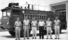 1963 - one of the Dade County Port Authority firefighting crews at MIA  Miami International Airport