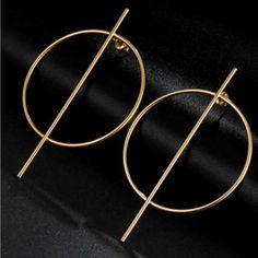 Crossed Hoop Earrings