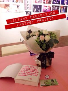 """SNSD Tiffany exhibition 2014 """"Despite the rain, seems like Tiffany was the 30th guest to arrive and she 'forgot' her change ← entrance fee ₩9,000"""""""
