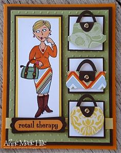 Retail Therapy by anne_marie - Cards and Paper Crafts at Splitcoaststampers Cute Handbags, Punch Art, Cute Cards, Retail Therapy, Paper Crafts, Sketches, Card Ideas, Holiday Decor, Girl Things