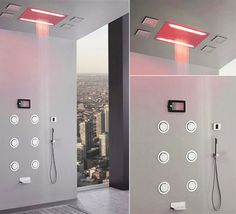 Graff Aqua Sense turns your shower into a spa with 4 colored LED lighting system, an iPod dock, USB port for other music devices, sensory and water flow intensity system