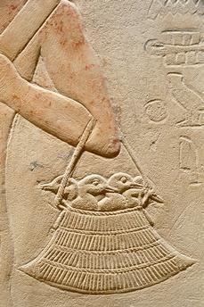 Sakkara, Tomb of Kagmeni, Ancien Egypt, 6th Dynasty. -Is that a handbag?? :)