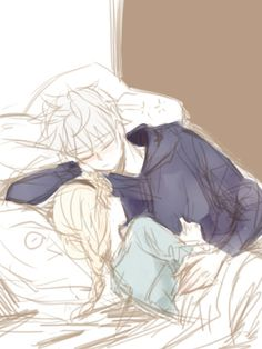 Jelsa <3 Jack with a younger Elsa SO CUTE