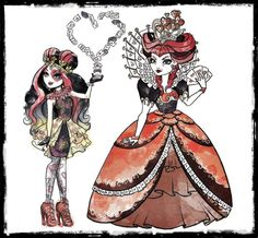The Queen of Hearts is the mother of Lizzie Hearts of Ever After High and the queen of Wonderland. Her character was introduced in The Way Too Wonderland Ever After High movie. Her character does not yet have a doll. Lizzie Hearts, Queen Of Hearts, Ever After High Parents, Monster High, Shawn Mendes Tattoos, Novi Stars, Raven Queen, Love Illustration, Funny Animal Pictures