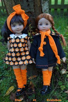 Dianna Effner Little Darlings Halloween Doll, Halloween Photos, Halloween Dress, American Girl Doll Costumes, American Doll Clothes, American Dolls, Sewing Doll Clothes, Sewing Dolls, Newberry Dolls