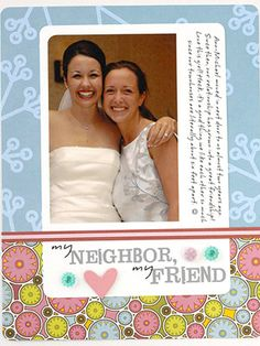 USE PATTERNED PAPER AND CARDSDTOCK TO ENHANCE WEDDING PHOTOS