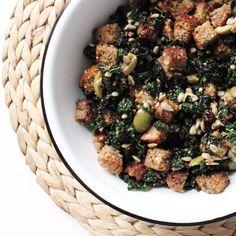 Kale Salad Panzanella HealthyAperture.com