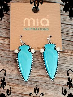 The Bling Box - Arrow with Bling Earring - Turquoise, $12.99 (http://www.theblingboxonline.com/arrow-with-bling-earring-turquoise/)