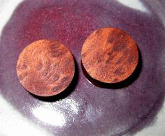 Redwood Pin burl wood ear plugs gauges 16 mm  by Knotholesdesign, $36.50