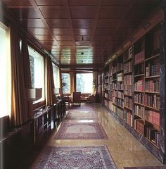 Marble library in Villa Karma, by Adolf Loos