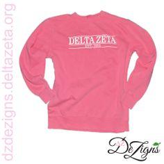 Delta Zeta sorority comfort colors sweatshirt! Now available at DZ DeZigns!