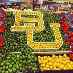 HEB BU display in Boerne, TX // Even HEB is #BaylorProud!!