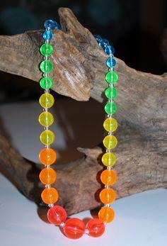 Vintage 1960s Luctite Necklace Bright Multi by AntiqueAlchemyShop, $15.00